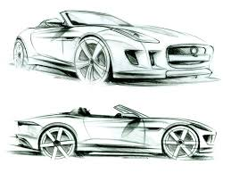 auto design jaguar f type design sketches sketches type