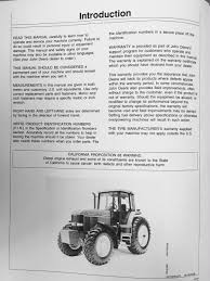 john deere jd 7600 7700 7800 tractor operators operation manual