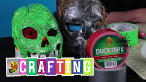 how to craft a duct tape halloween mask youtube