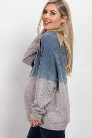 blue ombre soft knit sweater