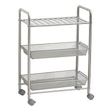 Rolling Bathroom Cart Salt 3 Tiered Bathroom Cart Towels Construction And Organizations