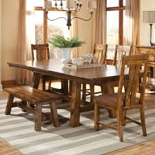 Dining Room Chairs And Benches by 6 Piece Wood Table Chairs And Bench Set By Intercon Wolf And
