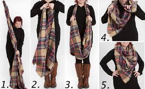 look collections tartan plaid blanket scarf in