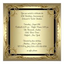 50th wedding anniversary gold 50th wedding anniversary card zazzle