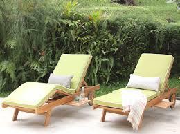Teak Chaise Lounge Cambridge Casual Monterey Teak Chaise Lounge With Cushion