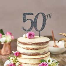 50th birthday cakes large 50th birthday cake topper cake topper for 50th