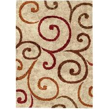 Shaggy Area Rugs Better Homes And Gardens Swirls Soft Shag Area Rug Or Runner