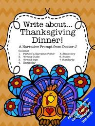 thanksgiving dinner narrative writing prompt common tnready