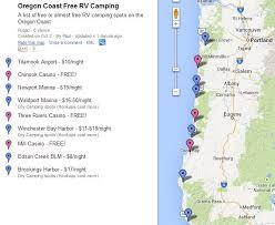 oregon coast cing map my