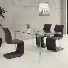 all glass dining room table modern glass dining kitchen tables allmodern