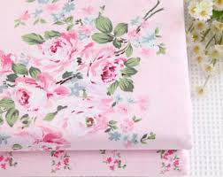 100 cotton vintage floral roses blue fabric bedding sheet table