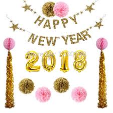 gold foil tissue paper 2018 decoration gold foil number balloons swirl tassel garland