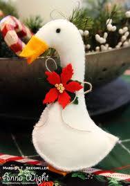 goose wool felt ornament sassy sweet notes