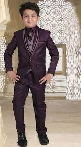 stylish purple tuxedo coat pant for kid boy dt226653