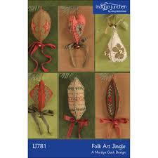 folk jingle embroidered felt ornaments indygojunction