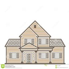 single family house vector stock vector image 49276802
