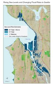 seattle flood map rising sea levels and changing flood risks in seattle national