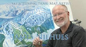 Colorado Ski Resorts Map James Niehues Artist Ski Trail Map Regional Views Scenic