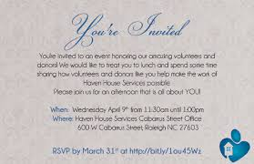 invitation wording for volunteer appreciation dinner invitation