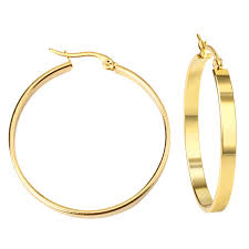 gold hoop earings gold hoop earrings shop elettra
