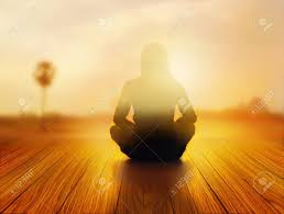 Light On Landscape Meditating Stock Photos Royalty Free Business Images