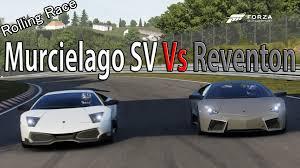 lamborghini reventon forza motorsport 6 drag race lamborghini murcielago sv vs