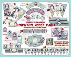 Downton Favors by Downton Printables Tea Downton