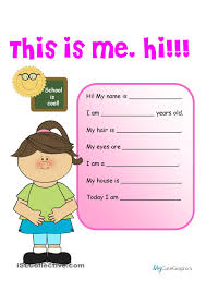 Gerund Or Infinitive Worksheet Creative Writing This Is Me Hi 1 Beginner Grade 1 Worksheets