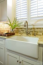 Farmhouse Faucet Kitchen by Delta Touch Faucet Kitchen Traditional With Apron Sink Butcher