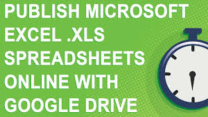 Free Excel Spreadsheet Online Publish Microsoft Excel Xls Spreadsheets Online With Google Drive