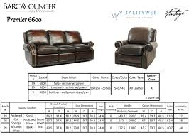 Standard Sofa Length by Barcalounger Premier Ii Leather Recliner Chair Leather Recliner