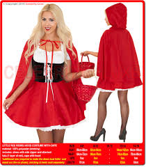 red riding hood fairytale costume with cape