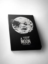 Home Movie Theater Wall Decor A Trip To The Moon Art For Movie Lovers Home Theater Art