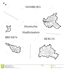 Bremen Germany Map by Vector Map Of The Federal City States Of Berlin Hamburg And