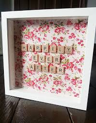 wedding gift diy scrabble fabric frame wedding gift birthday gift house