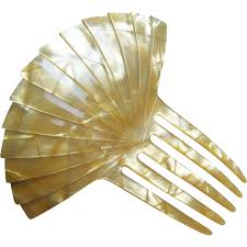 vintage comb vintage hair comb deco of pearl effect hair accessory