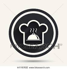 symbole cuisine clipart chapeau chef signe icon cuisine symbole k41167632