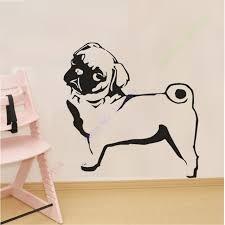 aliexpress com buy new pug dog wall sticker vinyl wall stickers