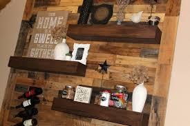 Pallet Wood Bookshelf Dining Room Remodel Pallet Wall Floating Shelves U2013 Ellery Designs