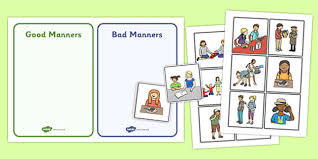 good manners sorting and discussion cards good manners