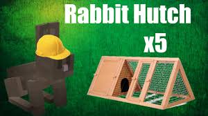 6 Rabbit Hutch Minecraft Build Rabbit Hutch X5 Youtube