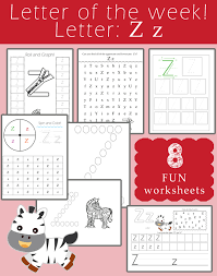 free letter of the week printables letter z preschool curriculum