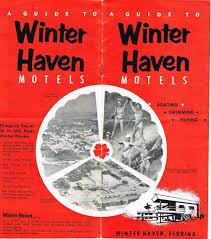 vintage florida travel brochure winterhaven polk county motels