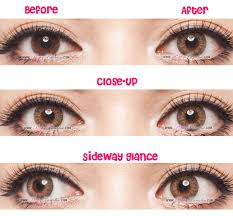 geo tri color brown circle lenses colored contacts pinkyparadise