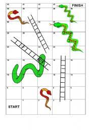 snakes u0026 ladders vocabulary template game