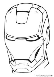 iron man helmet a4 avengers marvel coloring pages printable