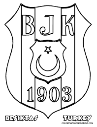 besiktas football soccer coloring sheet turkey unit