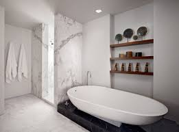 Carrara Marble Bathroom Designs Cozy Marble Bathroom On Bathroom With Carrara Marble Shower
