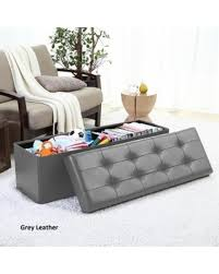 Large Storage Ottoman Bench Here S A Great Price On Ellington Home Foldable Tufted Faux