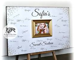 sweet 16 guest sign in book sweet 16 guest book white and gold glitter gold sparkles